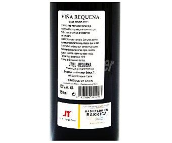 VIÑA REQUENA Vino tinto madurado en barrica, D.O Utiel-Requena Botella de 75 Centilitros