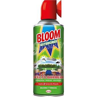 Bloom Insecticida volador Barrera exterior para moscas mosquitos y hormigas 8h de eficacia spray 400 ml ideal para balcones y terrazas Spray 400 ml