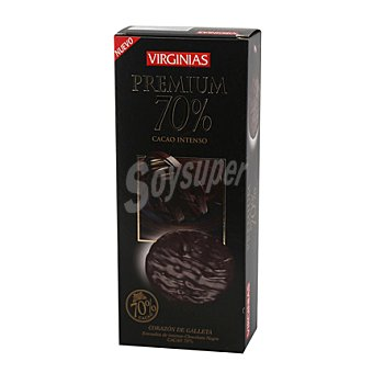 Virginias Galleta bañada de chocolate premium 70% 120 g