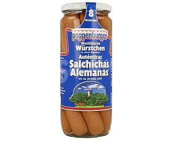 POPPENBURGER Salchichas alemanas en su propia piel 720 g (peso neto escurrido)