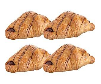 Croissant relleno de chocolate, 4 uds. 4 uds