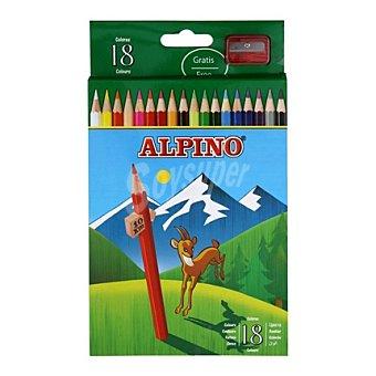 Alpino Estuche 18 Lápices Hexagonales 6,9 mm de Colores Surtidos Estuche 18 L