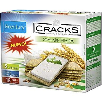 Bicentury tostadas crujientes cinco cereales 24% fibra Cracks Envase 125 g