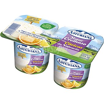 ASTURIANA Yogur cremoso con cítricos de Valencia Pack 3x125 g