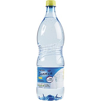 Eroski Sannia Agua sabor limón Botella 1,25l