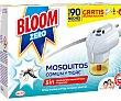 Bloom Zero Líquido Eléctrico Insectos Voladores Aparato+2 Recambios 2 uds Bloom