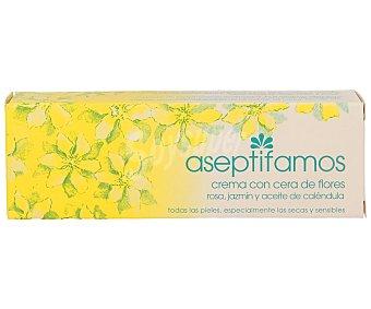 Aseptifamos Crema belleza con cera de flores, rosa, jazmí y aceite de caléndula para todas las pieles, especialmente para pieles secas y sensibles 50 ml