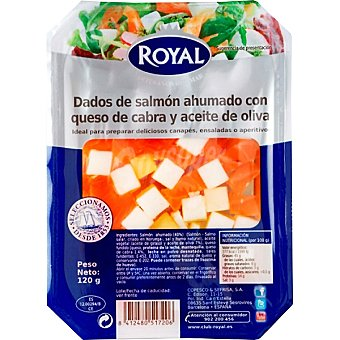 Royal Dados salmon/queso 110 GRS
