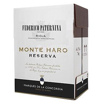 Paternina Vino D.O. Rioja tinto reserva Monte Haro Pack de 6 botellas de 75 cl