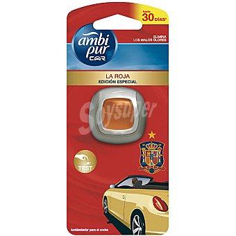 AMBIPUR CAR ambientador de coche Edición Especial La Roja desechable  1 unidad