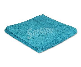Productos Económicos Alcampo Toalla 100% algodón color turquesa para lavabo, densidad de 360 gramos/m², 50x90 centímetros 1 unidad