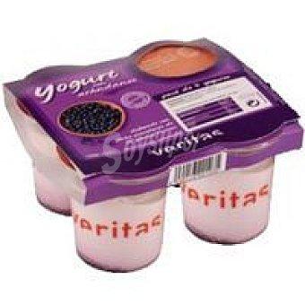 Veritas Yogur con arándanos Pack 4x125 g