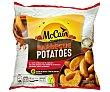 Patatas prefitas y ultracongeladas, cortadas en gajos y con un toque a barbacoa 750 g Mc Cain