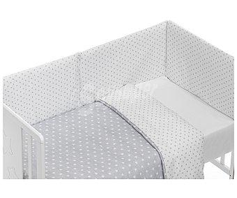 PisPas Coordinado de 3 piezas para cuna, compuesto por funda nórdica y juego de sábanas, color gris 3 piezas
