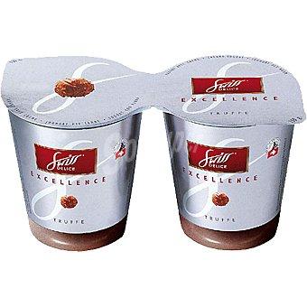 Swiss delice Crema de yogur con trufa Pack 2 envase 150 g