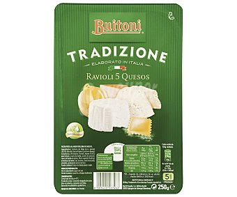 Buitoni Ravioli 5 quesos Tradizione Bandeja 250 g