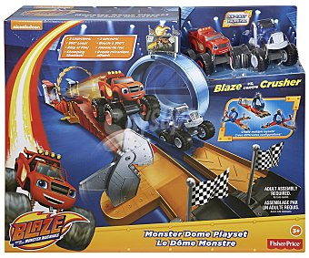Fisher-Price Pista de carreras Estadio Monster Dome, incluye 2 coches price Blaze