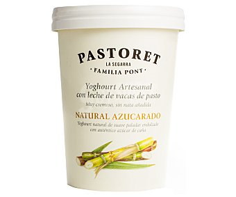 Pastoret Yogur artesanal natural azucarado Tarrina 500 g