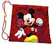 Mochila sencilla estilo saquito portatodo infantil, cuerdas ajustables, fabricada con poliéster, diseño mouse  Mickey Disney