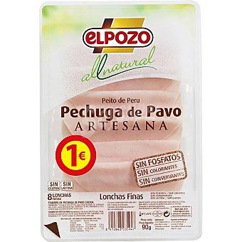 ELPOZO ALL NATURAL Pechuga de pavo artesana Envase 90 g