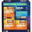 5 recambio de maquinilla de afeitar Estuche 11 unidades Gillette Fusion