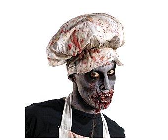 HAUNTED HOUSE Sombrero sangriento de carnicero zombie, Halloween Sombrero c/sangre