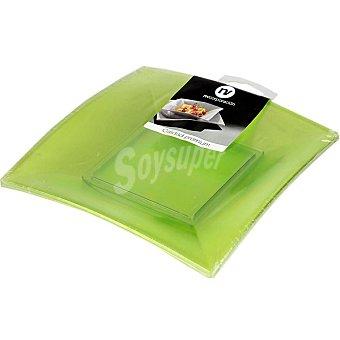 NV. Plato de postre verde ácido 18 cm Paquete 6 unidades
