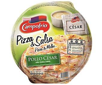 CAMPOFRIO Pizza pollo césar con cebolla y salsa césar Envase de 350 g