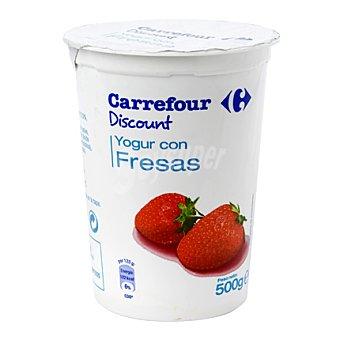 Carrefour Discount Yogur con fresas 500 g