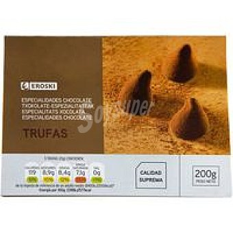 Eroski Trufas de chocolate Caja 200 g