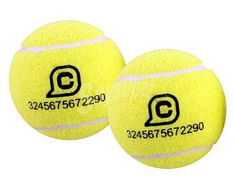CUP´S Pelotas de tenis color amarillo 2 unidades