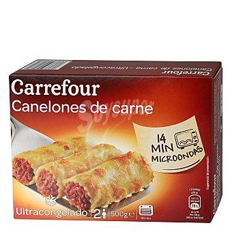 Carrefour Canelones de carne congelados 500 g