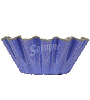 Carrefour Flanera 10 cm rizada azul