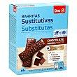 Barritas sustitutivas chocolate negro Caja 6 uds 192 gr DIA Vital