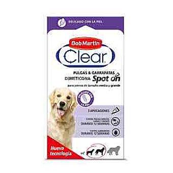 Bob Martin Pipetas perro mediano antigarrapatas y antipulgas Clear Paquete 6 ampollas