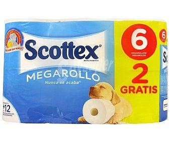 Scottex Papel Higiénico Megarollo 4+ 50% Gratis
