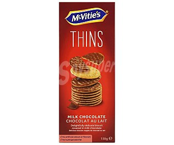 McVities Galletas Digestive chocolate con leche thins 150 g