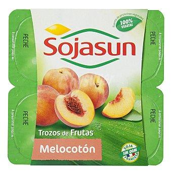 Sojasun Postre de soja melocotón Pack 2x100 g