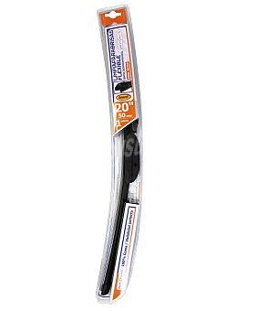 ROLMOVIL Limpiaparabrisas flexible de 500 milímetros de longitud, con 6 adaptadores de ajuste 1 unidad
