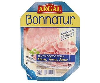 Argal Jamón cocido extra en lonchas finas Bonnatur 80 gramos