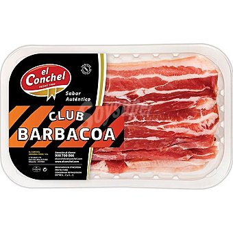 EL CONCHEL Panceta curada para barbacoa Bandeja 330 g