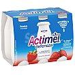 Yogur líquido fresa Pack 6 x 100 g Actimel Danone
