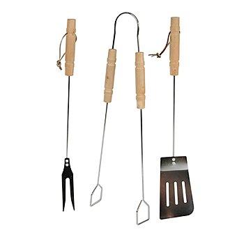 Accesorios :espátula,pinzas y tenedor 3 unidades