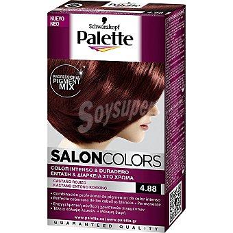 Schwarzkopf Palette Tinte nº 4.88 Castaño Rojizo color intenso y duradero Salon Colors Caja 1 unidad
