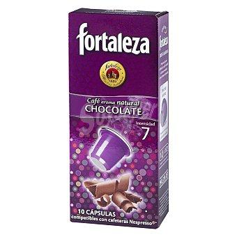 Fortaleza Café con aroma Chocolate  10 cápsulas