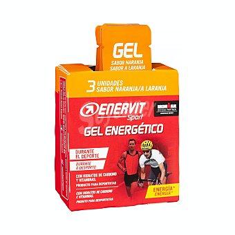 Enervit Sport Gel energetico sabor naranja para deportistas Paquete 3 u