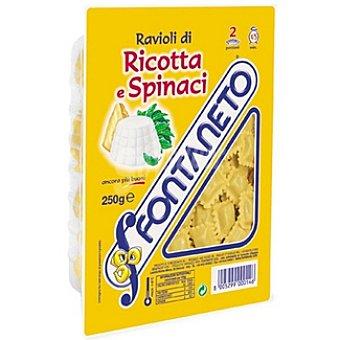 FONTANETO Ravioli fresco relleno de ricotta e spinaci Envase 250 g