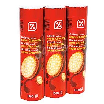 DIA Galleta rellena chocolate pack 3x250 gr