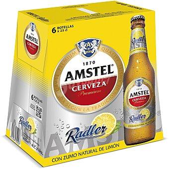 Amstel Cerveza Radler con zumo de limón  Pack 6 u x 25 cl