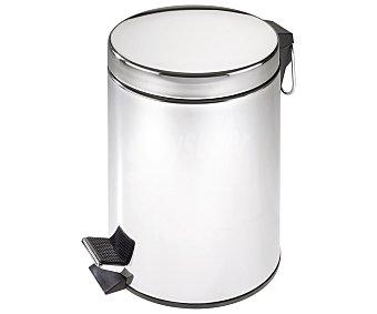 WENKO Cubo de baño con pedal, capacidad de 5 litros, color cromado acabado brillo sellado 1 Unidad